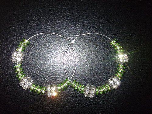 Crystal Rhinestone hoops Poparazzi Inspired Basketball wives Earrings