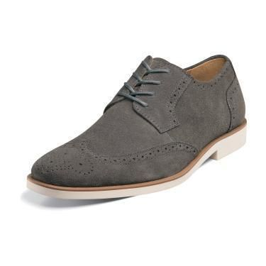 Stacy Adams Telford Mens Dress Shoes 24723 Grey Suede All Sizes |