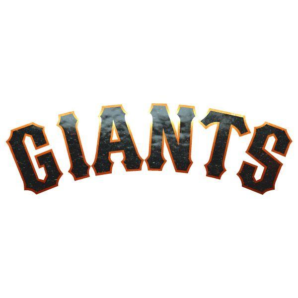 San Francisco Giants 2 Color Metallic Car Sticker Decal