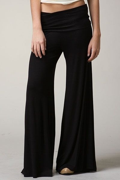 GAUCHO PANT Wide Flare Leg Palazzo Black Navy Full Length S M L