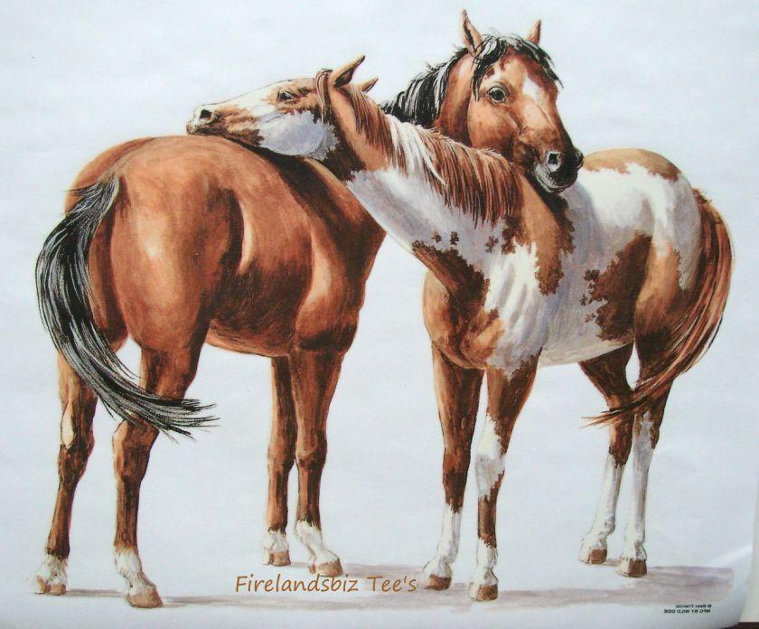 Good Friends Horses One Paint T Shirt M L XL 2XL Choose Color