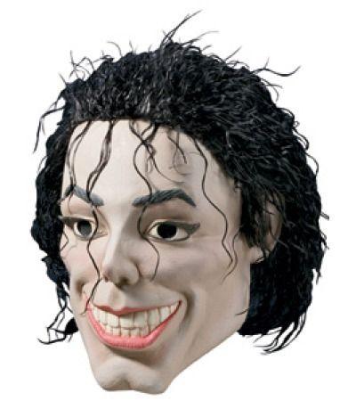 MICHAEL JACKSON PLASTIC MAN ADULT VINYL HALLOWEEN MASK