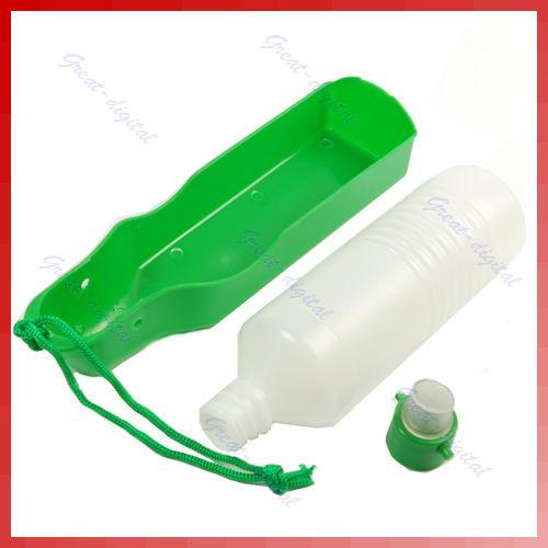 Pet Dog Portable Travel Hiking Water Bottle Bowl 500ml