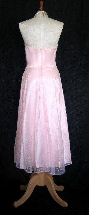 NWT Jessica McClintock Retro Pink Tea Length Dress Size 6P