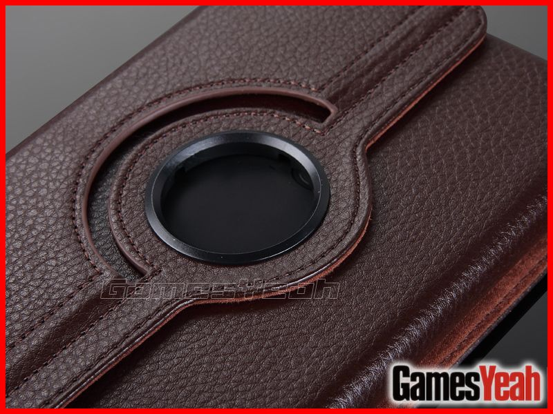 Brown F Kindle Fire PU leather Case Cover/Car Charger/USB Cable/Stylus