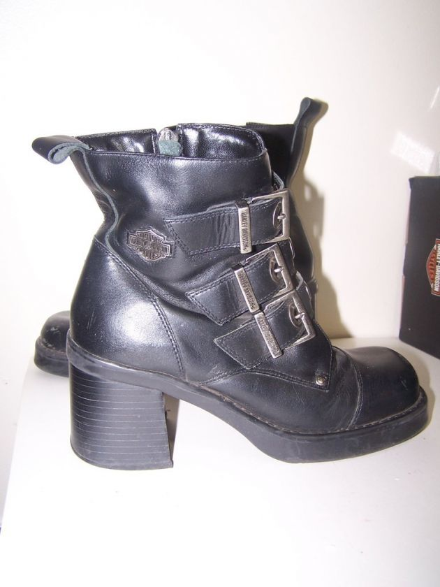 Harley Davidson Women Sz 6 Motorcycle Leather Boots